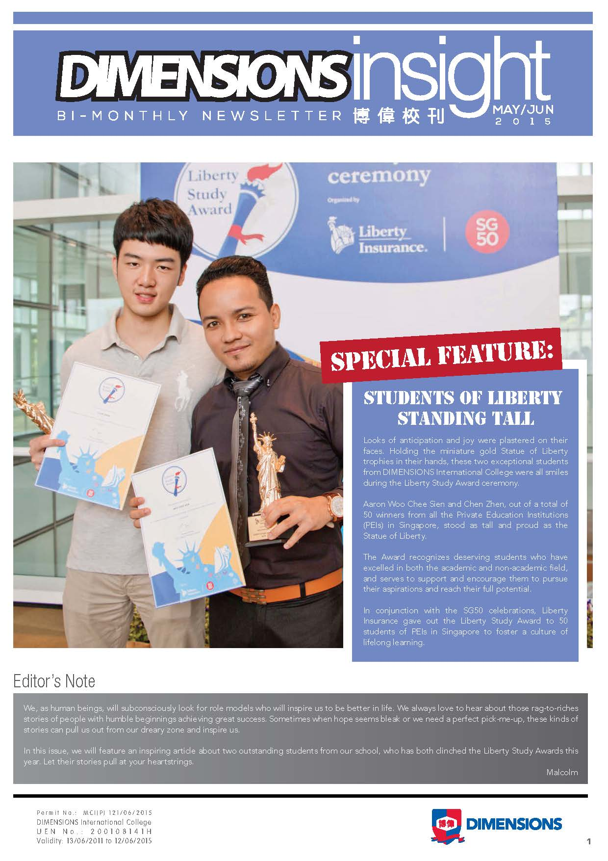 Newsletter May-Jun 2015 Page 1